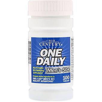 21st Century, One Daily, Men's 50+, Multivitamine Multimineral, 100 Comprimés