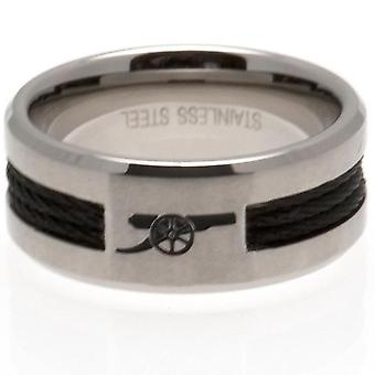 Arsenal FC Black Inlay Large Ring