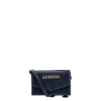 Jacquemus 206sl05206300390 Heren's Blue Leather Clutch