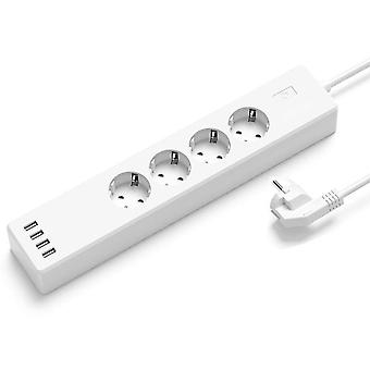 Wifi Smart Power Strip Surge Protector 4 Eu Plug Outlets Electric Socket With Usb App Voice Remote Control By Alexa Google Home
