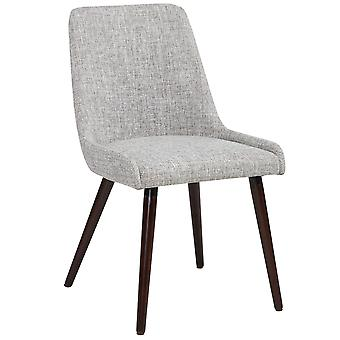 Hailey Side Chair - Light Grey/Walnut Leg