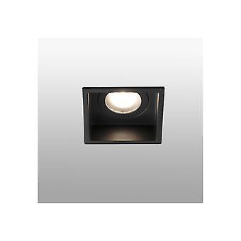 Faro Hyde - Schwarzes Quadrat Einbau-Downlight IP44, GU10