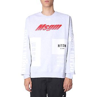Msgm 2740mm7119579894 Mænd's Grå Bomuld Sweatshirt