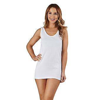 Slenderella V23 Women's White Cotton Vest Top