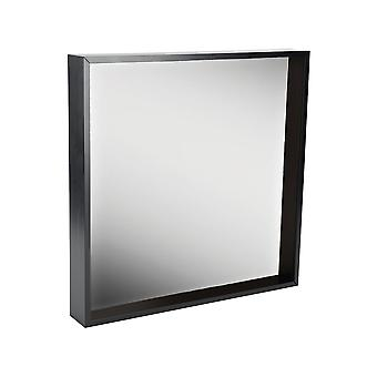 Box Mirror Frame - 16 x 16 Square Acrylic Frame - Black