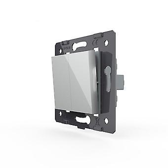 Eu Standard، مواد بلاستيكية، 2gang 2 مفتاح وظيفة الطريق لزر الضغط على الحائط