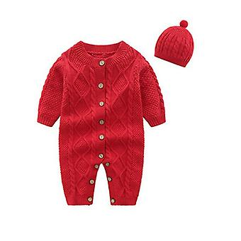 طفلة حديثة الولادة، فتى جامبسوت، قبعة - ملابس دافئة في الشتاء