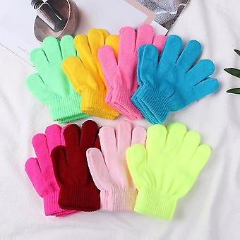 Winter Glove Stretchy Warm Full Finger Gloves For Boys Girls