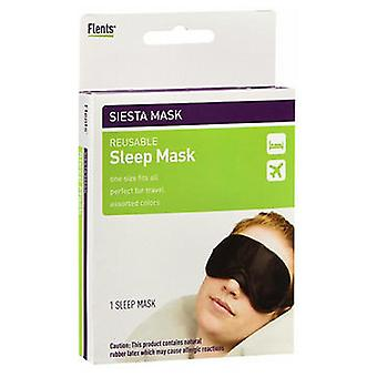 Flents Siesta Mask Reusable Sleep Eye Mask, 1 each