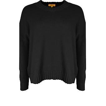 Yellow Label Black Oversized Knit Jumper