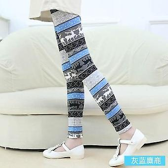 Flower Print Girls Leggings Pencil Pants For Autumn Season Set-1