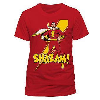 Shazam Unisex Adults Pose Print T-Shirt