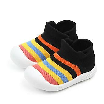 Infant, Kid, Baby, Boy, Girl, Soft Sole Crib Shoe, Sneaker, Rainbow Anti-slip