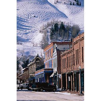 Skyltfönster Aspen Colorado affisch Skriv