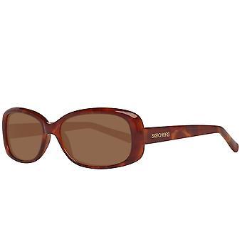 Skechers براون المرأة النظارات الشمسية