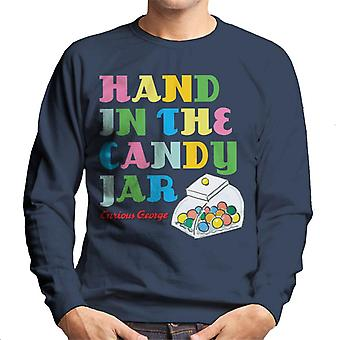 Curious George Hand In The Candy Jar Men's Sweatshirt