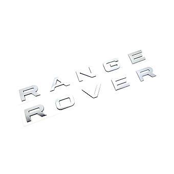 Хром Серебряный RANGE ROVER Передний гриль Bonnet значок эмблема Бонне и задняя загрузка Буквы значок (Pack 2)