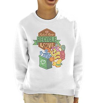 Care Bears Odblokować Magic Reduce Reuse Recycle Love Kid's Bluza