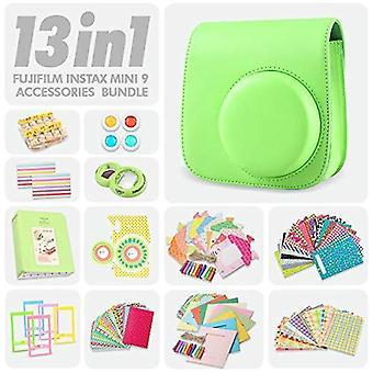 Fujifilm instax mini 9 lime green case and accessories bundle