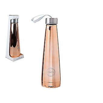 Summit B&Co 450ml Conical Bottle Flask Rose Gold