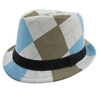 Solid Plaid Top Hats, Baby Cap