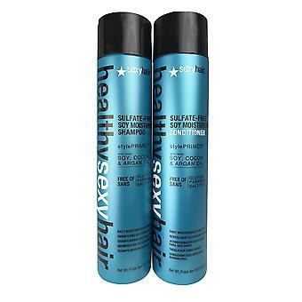 Sexyhair healthy smooth moist duo 10.1 oz each