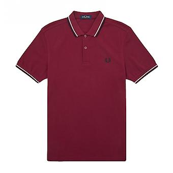 Polo Fred Perry Twin Tipped Fred Perry Shirt Bordeaux