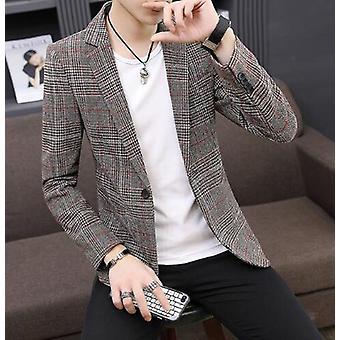 British Stylish Male Suit Jacket, Business Casual One Button Blazer