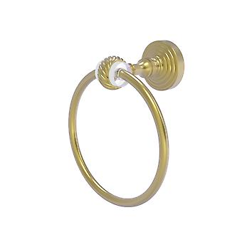 Pacific Grove Collection Towel Ring With Twisted Accents - Satin Brass