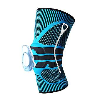 Exterior deporte presión primavera apoyo Nylon silicona tejer protector de rodilla