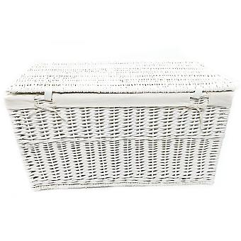 Wicker Baby Nursery Storage Basket Toy Blanket Box Lined
