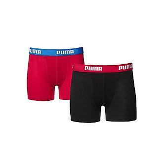 Puma 2 Pack Boys Underwear Boxer Shorts Stretch Waist Black 525015001 210 A4C
