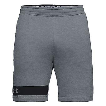 Under Armour Mens MK1 Terry Shorts Casual Lounge Pants Grey 1309956 035