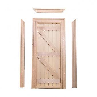 Κούκλες Σπίτι Παραδοσιακά Αγγλικά Ledged & Τιράντες ξύλινες πόρτες μινιατούρες οικοδόμοι