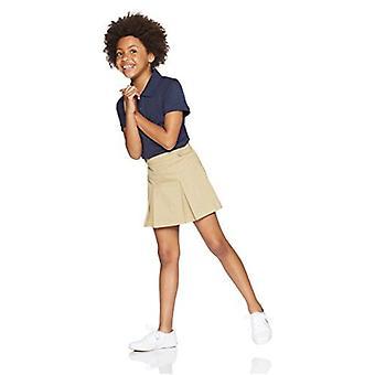 Essentials Little Girls' Uniform Skort, Khaki, XS (4-5)