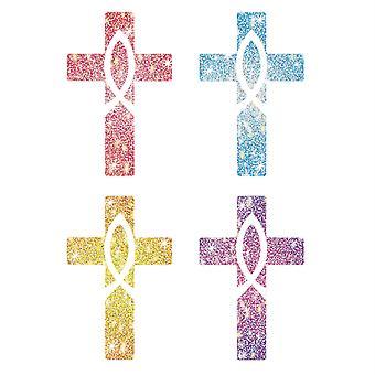 Dazzle Stickers Croix, Pack de 120