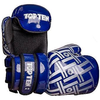 Top Ten Superlight Prism Glossy Pointfighter Guantes Azul/Blanco