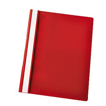Rapid Flat File Polypropylene A4 Red Pack of 25