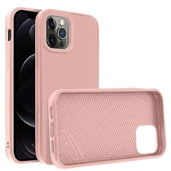 Back Cover For Apple iPhone 12 Pro Max Flexible Shockproof Rhinoshield pink