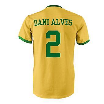 داني ألفيس 2 البرازيل بلد المسابقة تي شيرت
