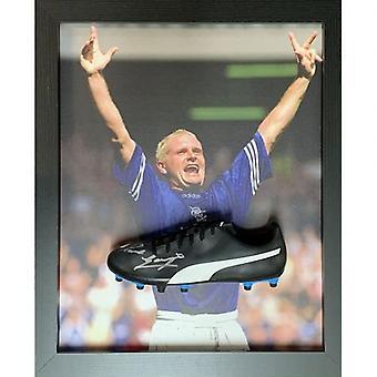 Rangers Gascoigne Signed Boot (Framed)