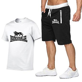 Hommes Summer Sportswear Short Sleeve T-shirts+ Short Pants