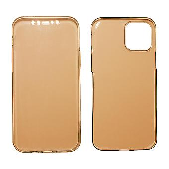 Full Cover kompatibilis iPhone 12 | Clear TPU Rose Gold |