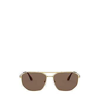 Prada PR 64XS złote męskie okulary przeciwsłoneczne