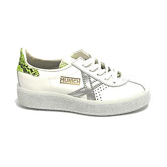 Shoes Women Munich Sneaker Barru Sky White Leather/ Green Ds21mu02 8295060