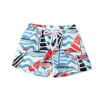 Bebé elástico cintura corta tronco verano traje de baño pantalones cortos de ropa de playa