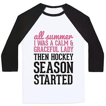 ...Then hockey season started unisex classic baseball tee