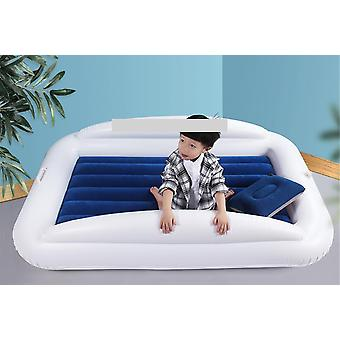 Inflatable Toddler Travel Bed With Safety Bumpers Blow Up Mattress  (blue And