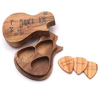 アコースティックエレキギタープレクトラムベースのための3つのPCsウッドギターピック