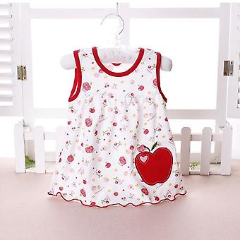 بلا أكمام الأزهار الصيف القطن فستان الطفل (مجموعة-2)
